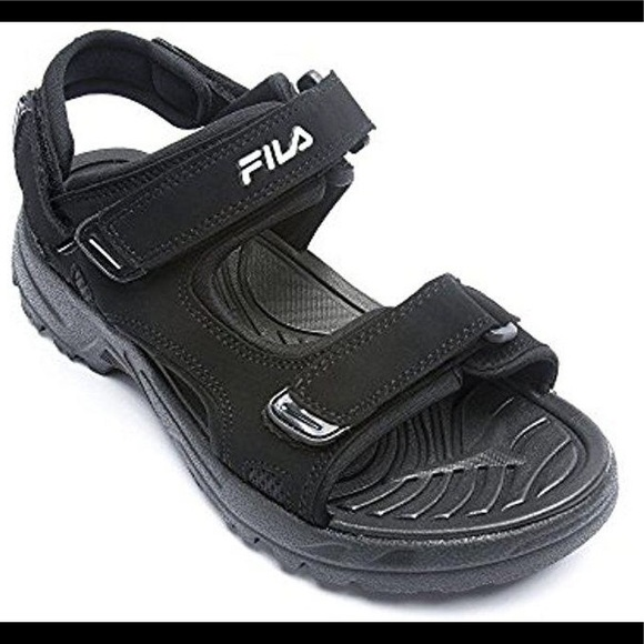 c2ccaf81d7 Fila Mens Black Transition Sandals New Size 10 NWT